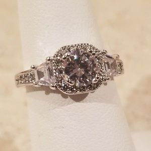 Jewelry - New S925 CZ Princess Cut Ring Size 6 & 1/4